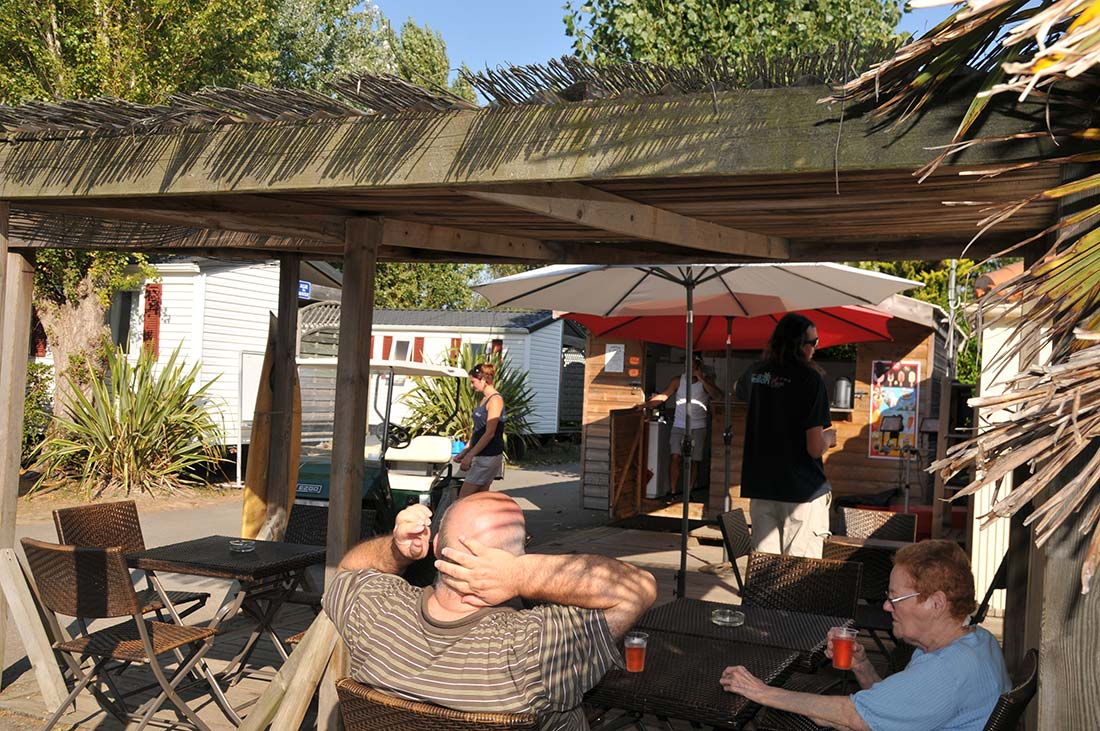 camping veillon plage snack-bar