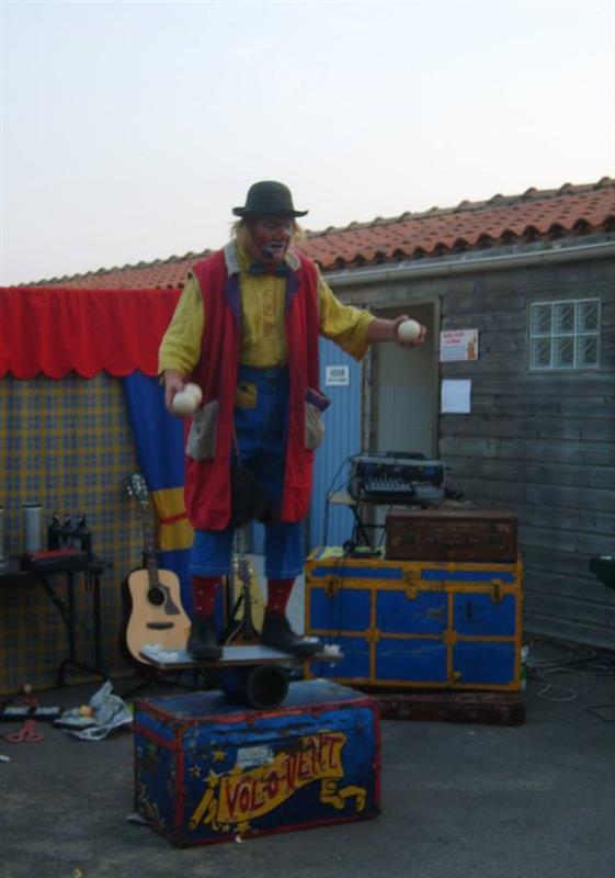 soirée clown camping veillon plage