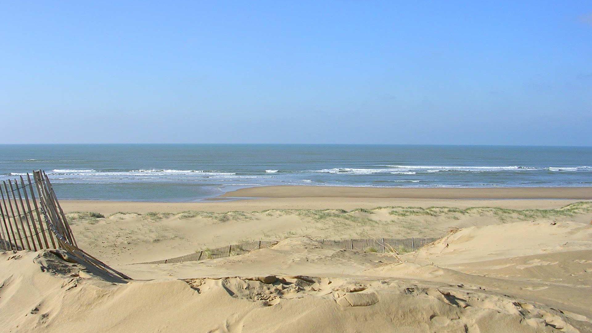 la plage du Veillon à Talmont St Hilaire en Vendée